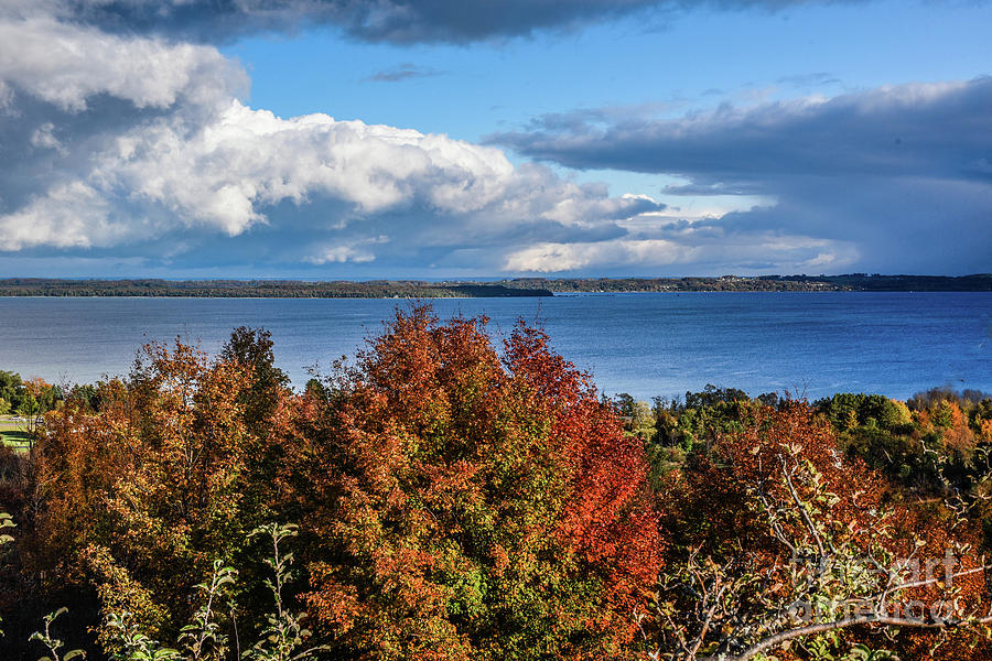 Fall Colors and Grand Traverse Bay by Grace Grogan