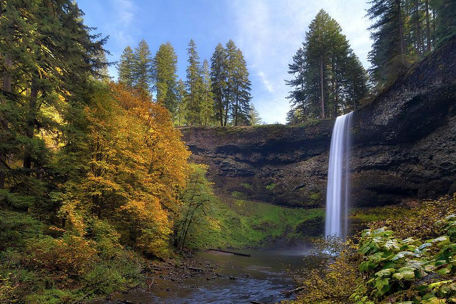 South Falls Photograph - Fall Colors At South Falls by David Gn