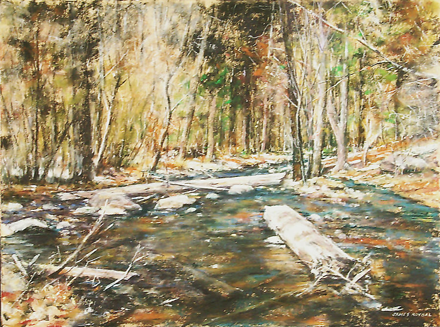Landscape Painting - Fall Colors by James Roybal
