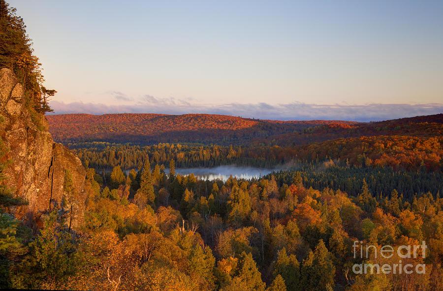 Autumn Photograph - Fall Colors Orberg Mountain North Shore Minnesota by Wayne Moran