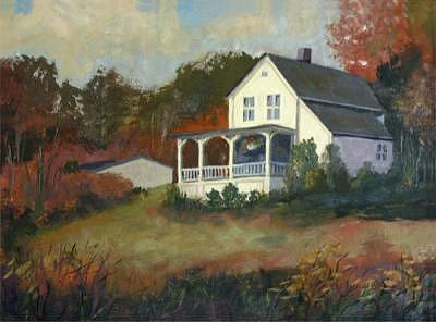 Autumn Painting - Fall Cottage by Jay Babina