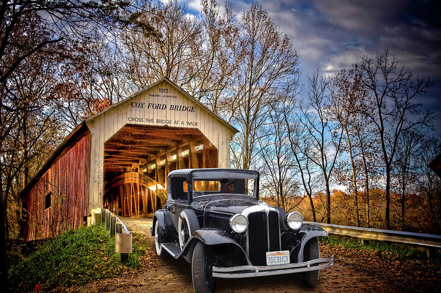 Covered Bridge Photograph - Fall Country Drive by Bill Dutting