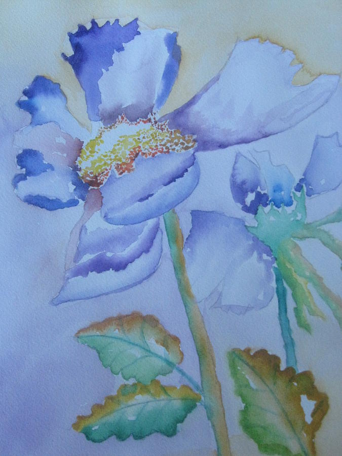 Watercolor Painting - Fall Daisy by Warren Thompson