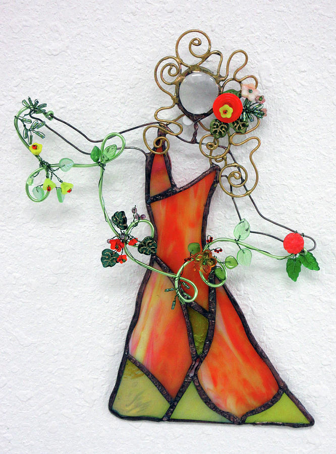 Fall Dancer Glass Art by Maxine Grossman