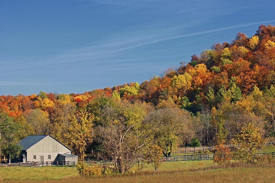 Autumn Photograph - Fall Farmyard by Maria Keady