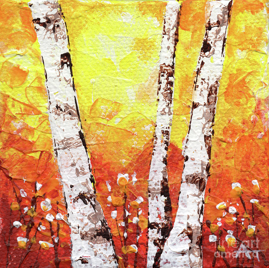 Fall Painting - Fall Fire by Annie Troe