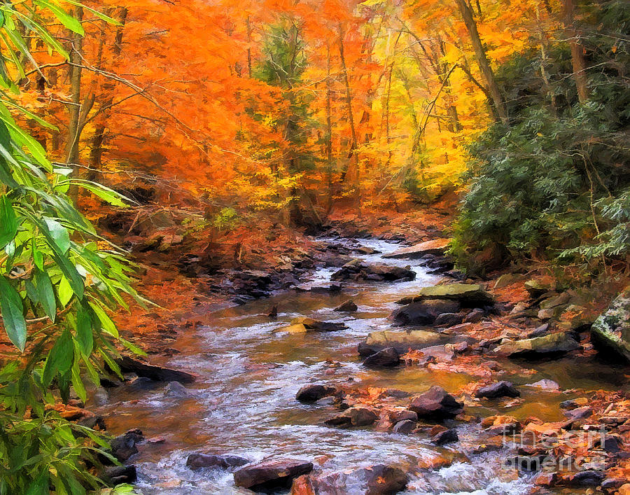 Fall Digital Art - Fall Fire by Randy Steele