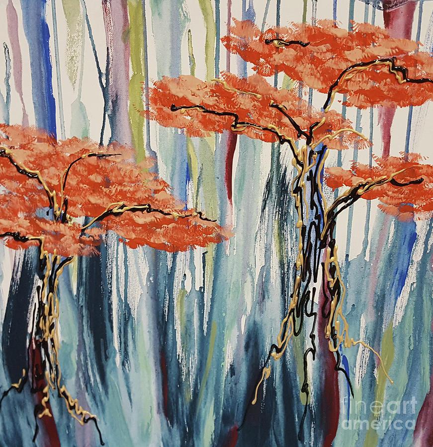 Acrylics Painting - Fall Fling by Cheryle Gannaway