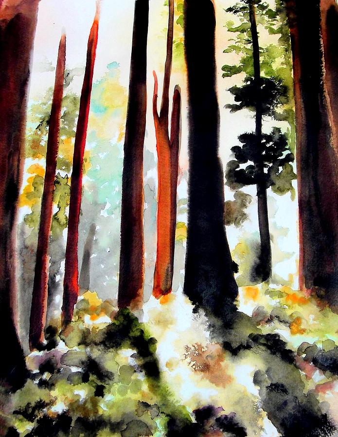 Forest Painting - Fall Forest by Richard Hoddinott