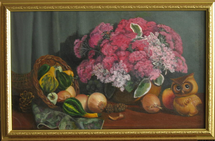 Fall Flowers Painting - Fall Fruit And Flora by Eleanor Mcintosh
