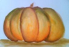 Zucca Painting - Fall Fruit Zucca Dautunno - Watercolor by Barbara Reale