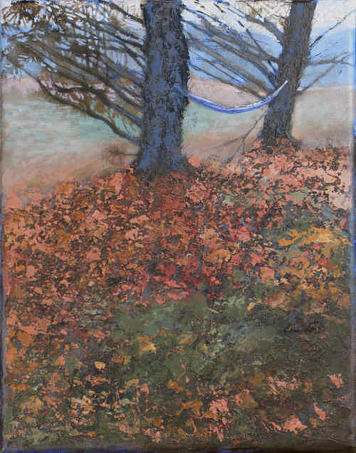 Fall Hammock Painting by Robert Bissett