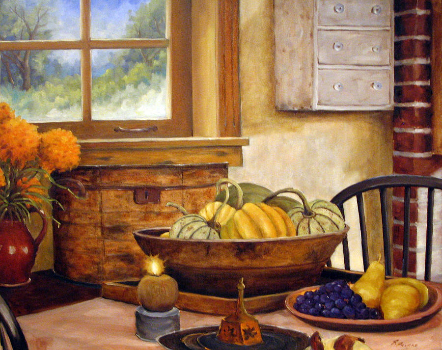 Fall Painting - Fall Harvest by Richard T Pranke