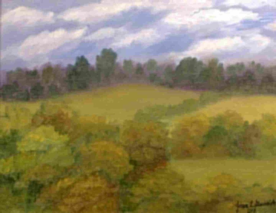 Landscape Painting - Fall Hills by Joan Garverick