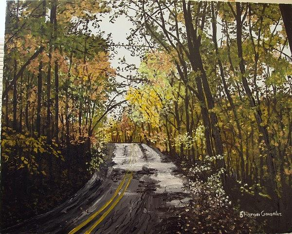 Autumn Painting - Fall In Arkansas by Sharon  De Vore