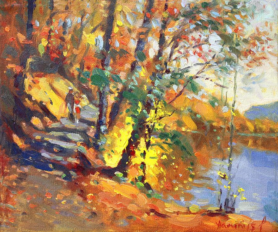 Bear Mountain Ny Painting - Fall In Bear Mountain by Ylli Haruni