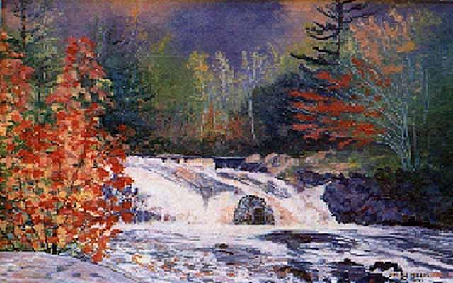 Landscape Painting - Fall In Duschesney by Yvette Miller