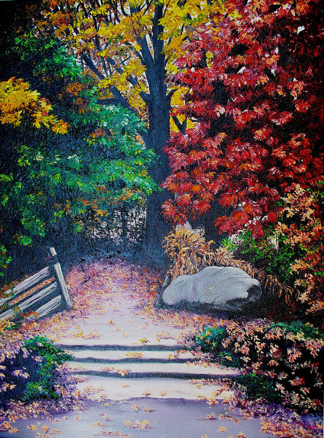 Fall In Quebec Canada Painting by Karin  Dawn Kelshall- Best