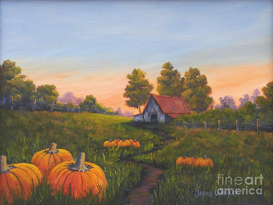 Landscape Painting - Fall In The Air by Jerry Walker