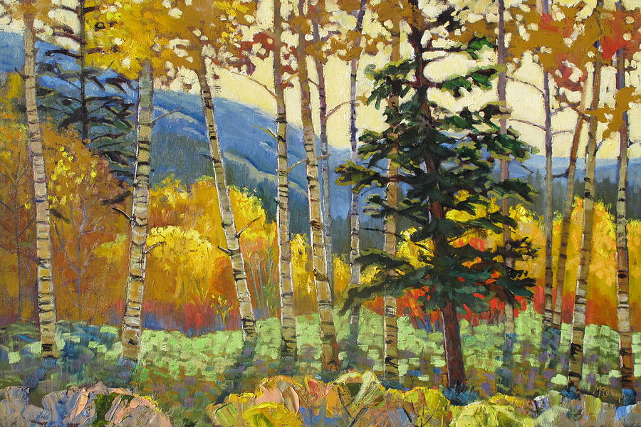 Landscape Painting - Fall In The San Juans by Susan McCullough