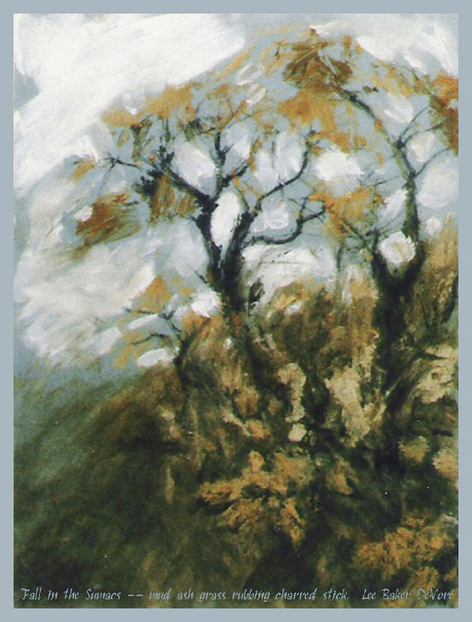 Landscape Mixed Media - Fall In The Sumacs by Lee Baker DeVore