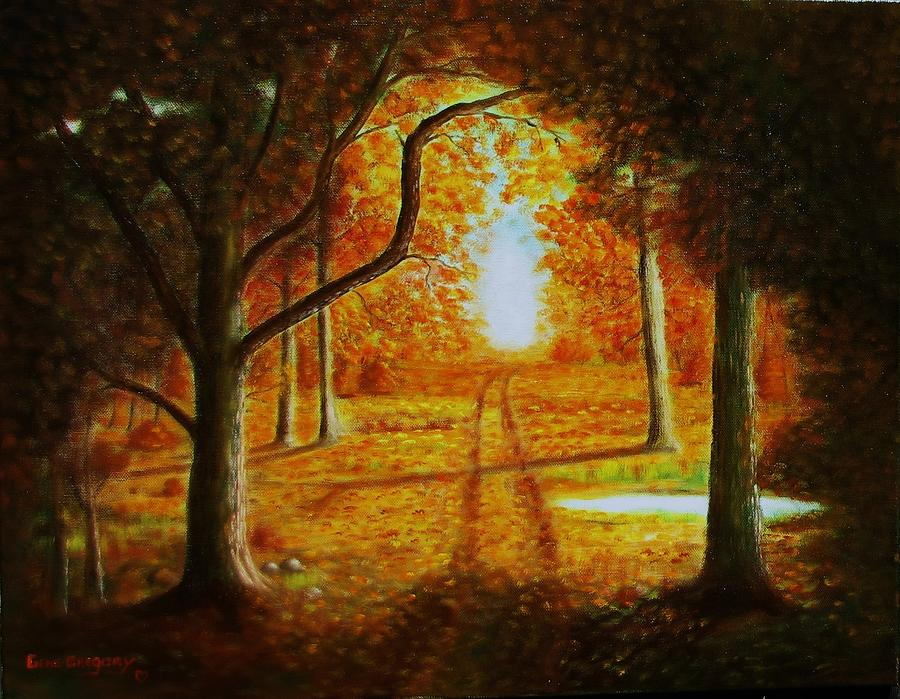 Fall in the woods by Gene Gregory