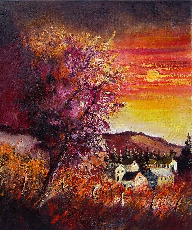 Autumn Painting - Fall in Villers by Pol Ledent