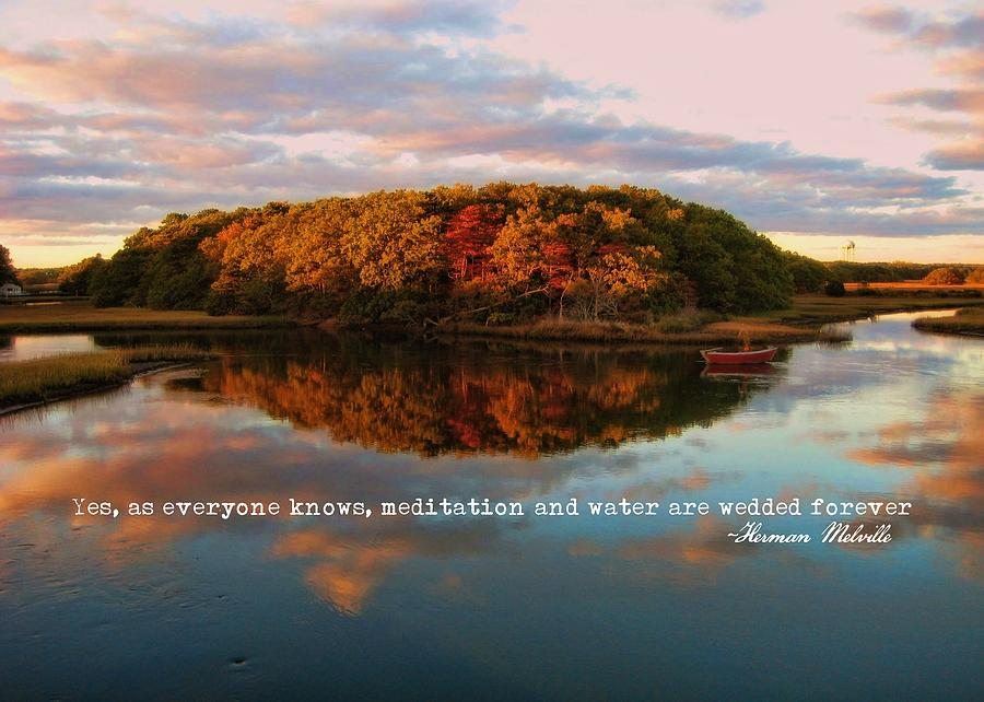 Fall Photograph - Fall In Wellfleet Quote by JAMART Photography
