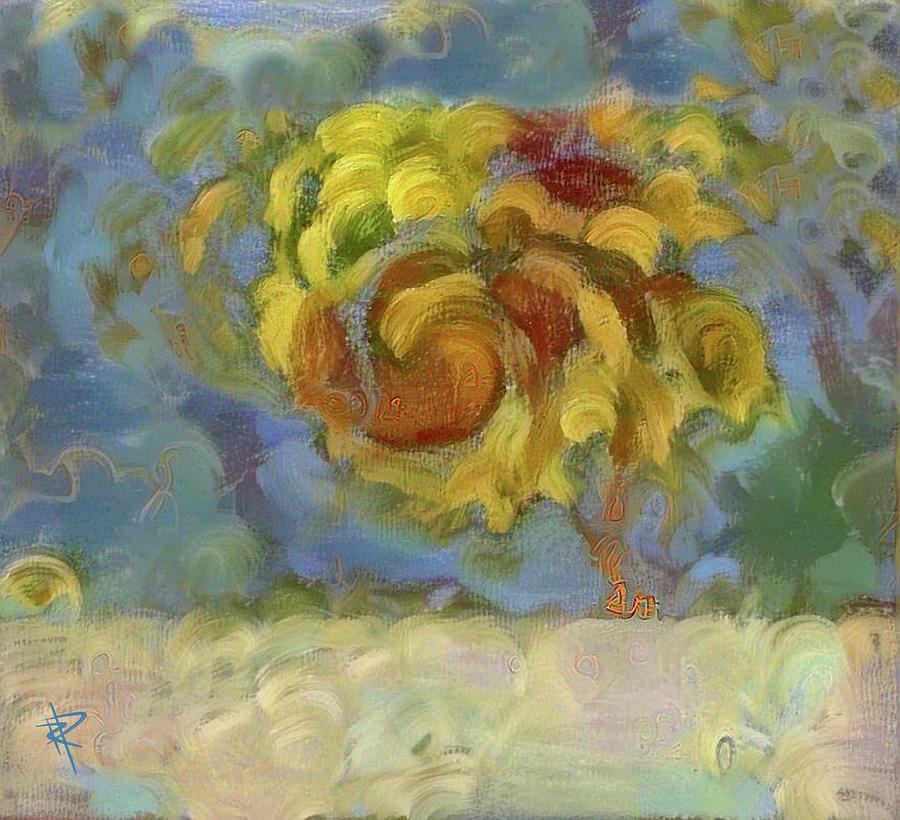 Expressionistic Mixed Media - Fall Is In The Air by Russell Pierce