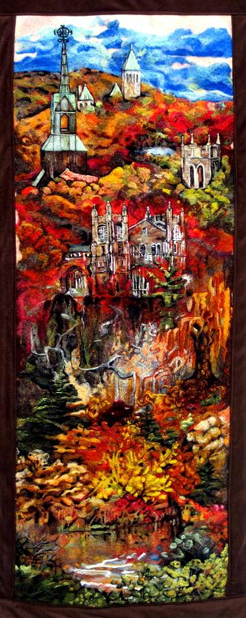 Felt Tapestry - Textile - Fall by Kimberly Simon