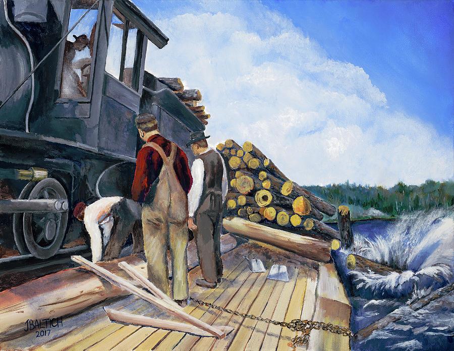 Fall Lake Train by Joe Baltich