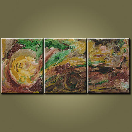 Large Abstract Painting - Fall Leaves by Jean Brewster