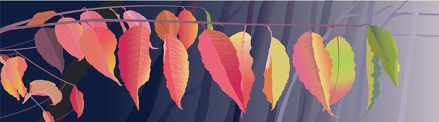Fall Painting - Fall Leaves by Marian Federspiel