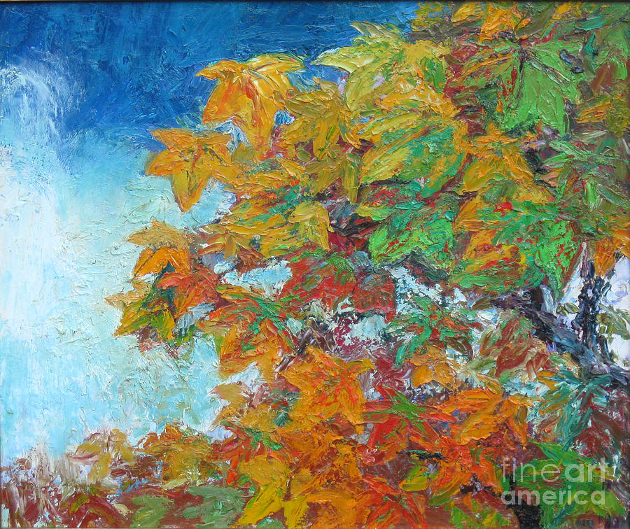 Fall Painting - Fall Leaves by Meihua Lu