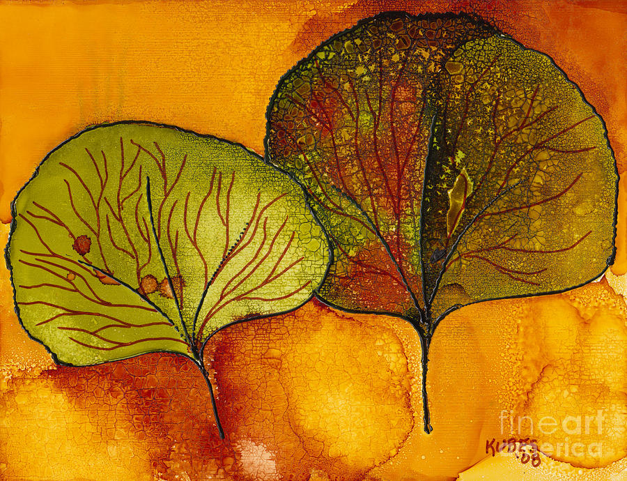 Leaf Painting - Fall Leaves  by Susan Kubes