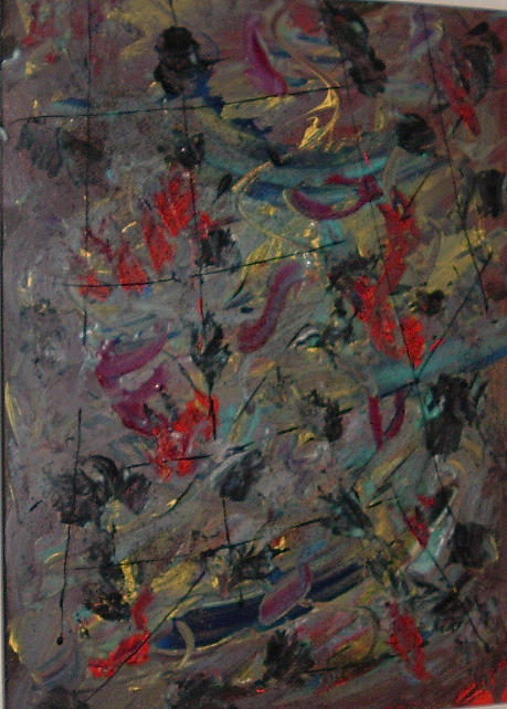 Abstract Painting - Fall by Lonny