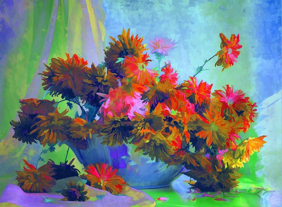 Still Life Painting - Fall Memories  by Rosalina Atanasova