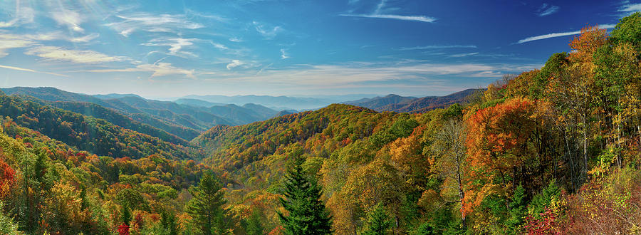 Tennessee Photograph - Fall Morning In The Smoky Mountains by Dave Files
