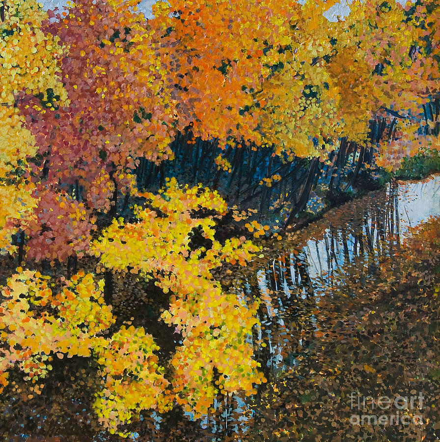 Landscape Painting - Fall Mosaic II by Lucinda  Hansen