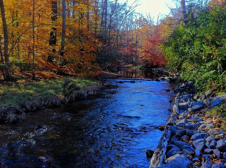 fall mountain stream photograph by jennifer ringley