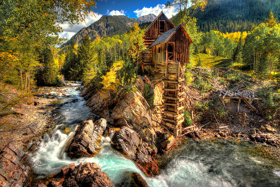 Crystal Mill Photograph - Fall n Mill  by Ryan Smith