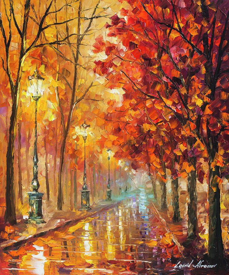 Painting Painting - Fall Night by Leonid Afremov
