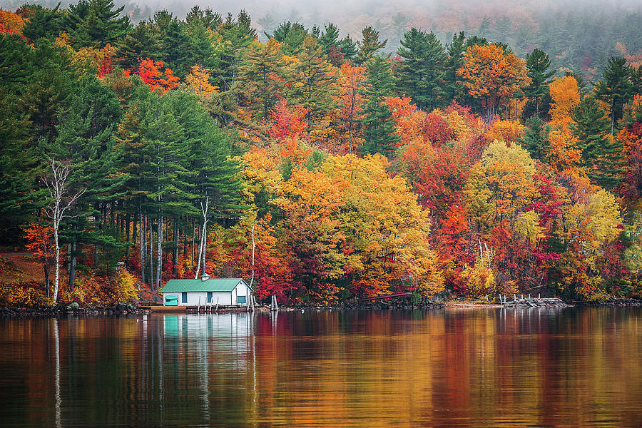 Fall on Lake Winnipesaukee by Robert Clifford