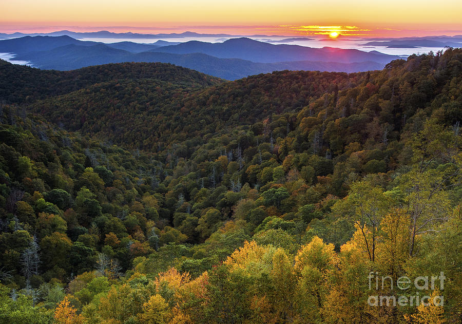 Fall Photograph - Fall On The Blue Ridge Parkway. by Itai Minovitz