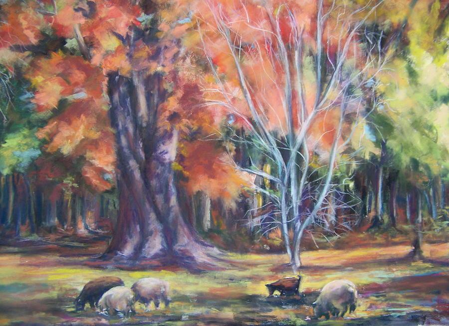 Landscape Pastel - Fall On The Farm by Joan Wulff
