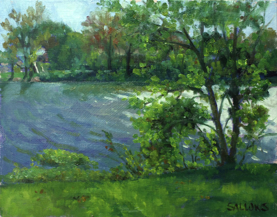 Maumee River Painting - Fall on the Maumee River by Nora Sallows