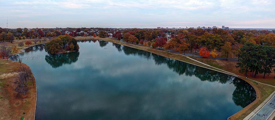 Rva Photograph - Fall over Byrd Park by Tredegar DroneWorks