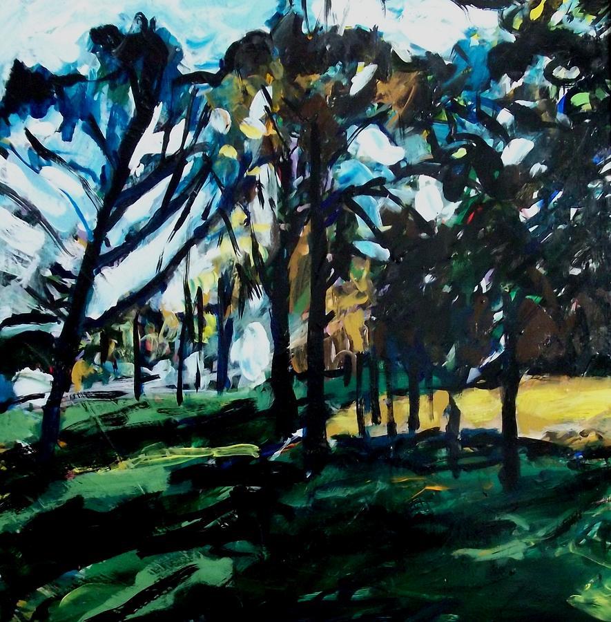 Landscape Painting - Fall Park Scene by Garry Pisarek