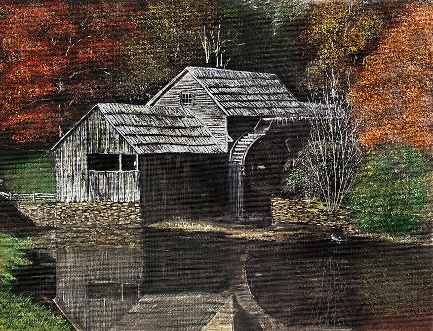Fall Painting - Fall Reflections by Dan Butner