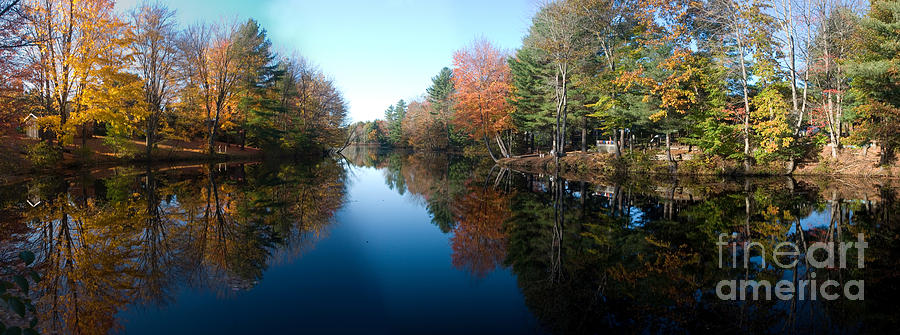 Landscape Photograph - Fall Reflections by David Bishop